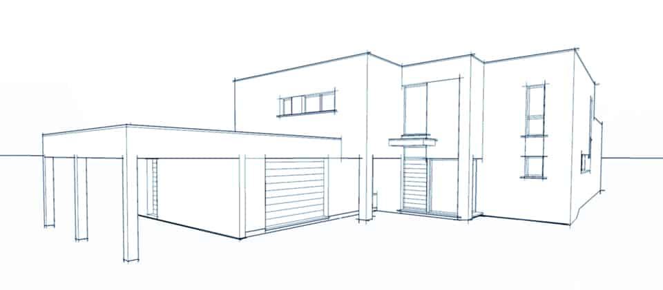 Volution projet pouwels 5 pouwels ab for Comment dessiner une maison d architecture