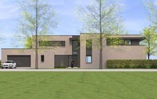 Les maisons cubiques en briques de pouwels ab architecteur for Architecture cubique