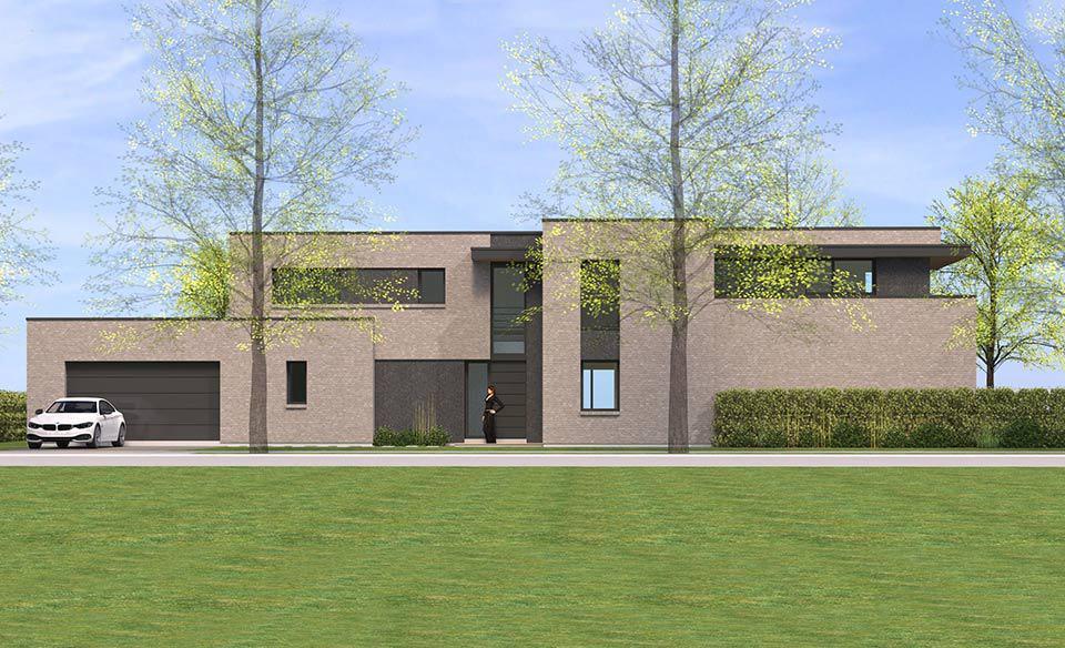 Architecture cubique en briques croix pouwels ab for Architecture cubique