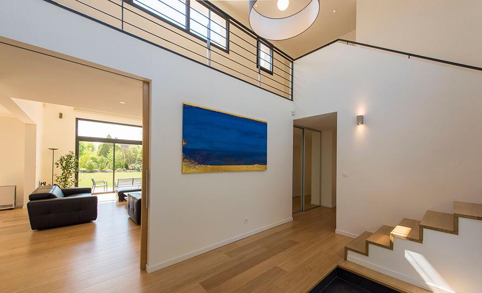 Maison d 39 architecte r alis e par pouwels ab architecte for Interieur maison cubique