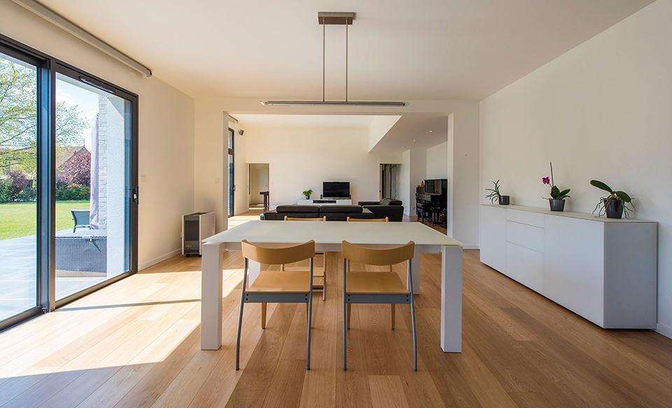 Intérieur d'une maison d'architecte