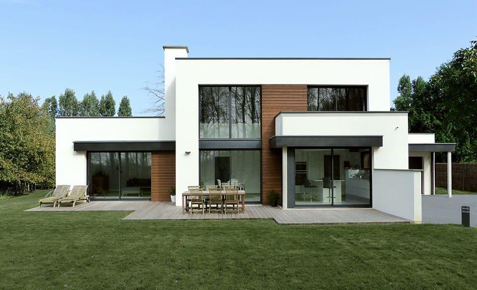 architecture cubique d 39 une maison dans le nord pouwels ab architecteur. Black Bedroom Furniture Sets. Home Design Ideas