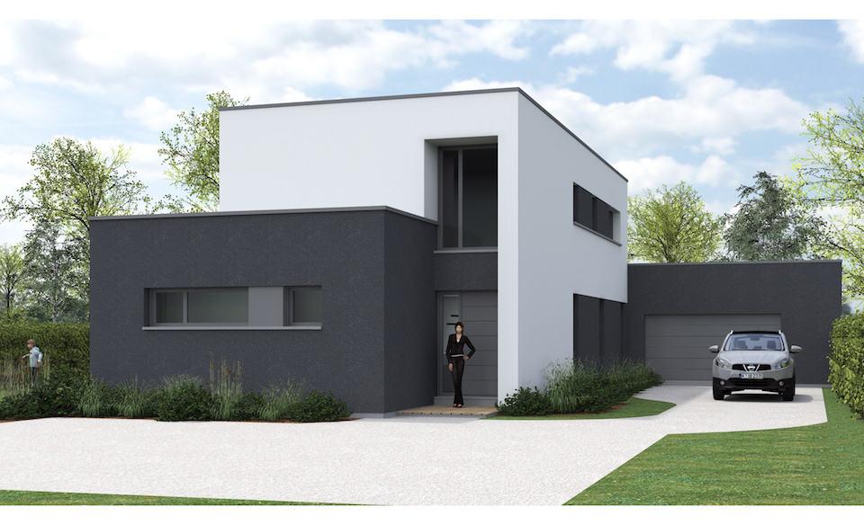 maison cubique wattignies pouwels ab. Black Bedroom Furniture Sets. Home Design Ideas
