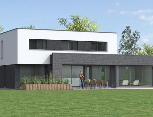 Construction d'une maison cubique à Sailly lez Lannoy