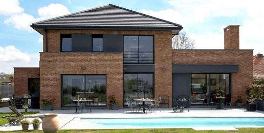 Maisons d 39 architecte semi cubiques dans le nord pouwels ab for Maison semi contemporaine