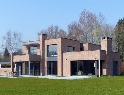 Maison cubique en briques à Villeneuve d'Ascq
