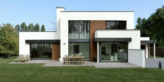 Maisons cubiques dans le nord construction pouwels ab for Architecture cubique