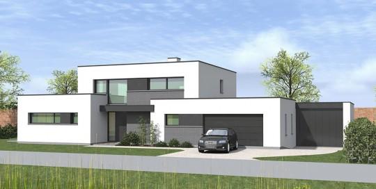 Maisons cubiques dans le nord construction pouwels ab for Maison semi contemporaine