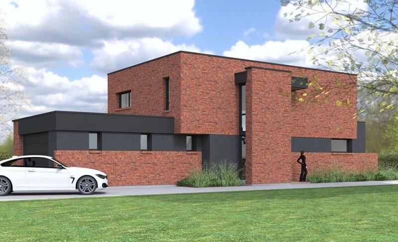 maison toiture terrasse nord