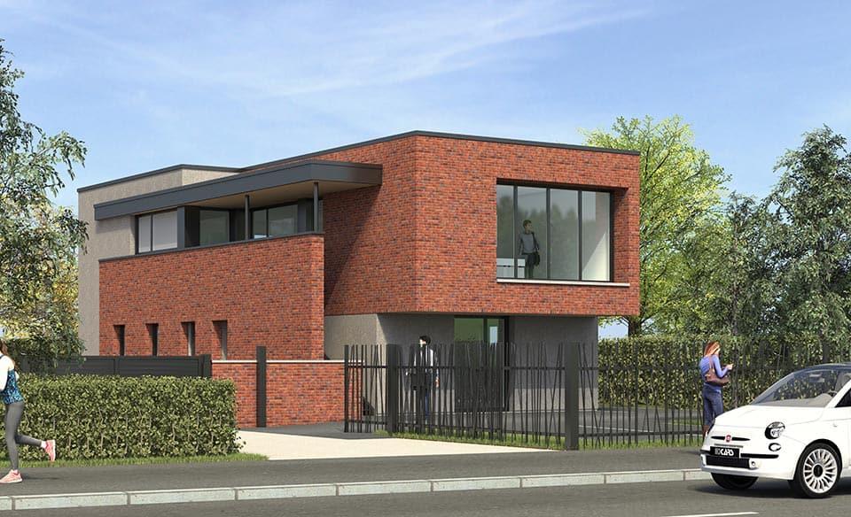 Construction de bureaux neufs à Villeneuve d'Ascq