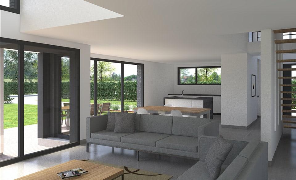Constructeur de maisons modernes dans le Nord : Pouwels architecteur