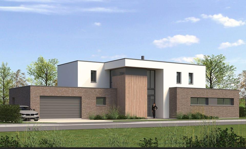 maison d'architecte cubique nord