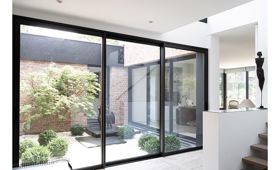 perspective intérieure patio salon