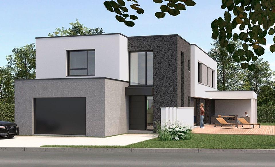Maisons Cubiques Dans Le Nord Constructions Pouwels Ab Architecteur