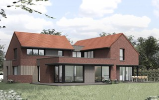 maison moderne dans le Nord avec patio central
