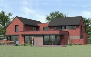 La conception d'une maison moderne avec des volumes à la fois cubiques et classiques